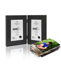 SViRU Black Synthetic Wood 6.5 x 8.3 Inch Folding Photo Frame