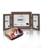 SViRU Brown Synthetic Wood 8.7 x 10.6 Inch Folding Photo Frame
