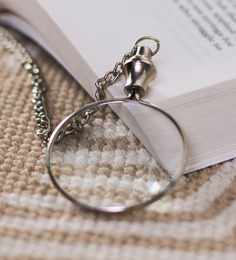Home Sparkle Silver Brass Nickel Chain Lens Keychain