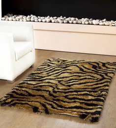 HomeFurry Yellow Polyester 72 x 48 Inch Tigers Skin Are Rug