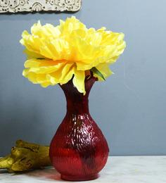Homesake Red Glass Flower Vase