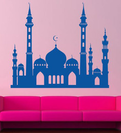 Hoopoe Decor Blue Vinyl Mosque Wall Decal