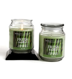 Hosley Fresh Bamboo Aroma Green Jar Candle