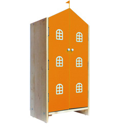 House Kids Small-Size Wardrobe in Orange Colour by KuriousKid