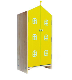 House Kids Small-Size Wardrobe in Yellow Colour by KuriousKid
