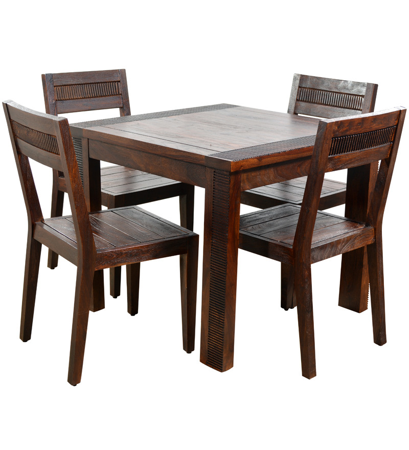 Buy venus four seater dining set 1 dining table 4 dining for Dinner table set for 4