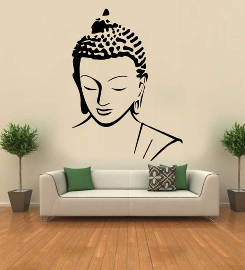 Home Decor Art Wall Decor Wall Decor ~ Buy hoopoe decor meditating buddha vinyl wall sticker