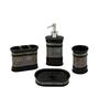 Home Belle Black Ceramic Accessories Set - Set of 4
