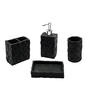 Home Belle Black Marbel Accessories Set - Set of 4