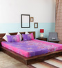 Home Creation Multicolor Cotton Double Bed Sheet Set (with Pillow Covers)