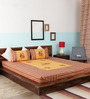 Home Creation Multicolor Cotton Ethnic Double Bed Sheet Set (with Pillows)