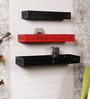Epilogue Colonial Wall Shelves Set of 3 in Black & Red by Bohemiana