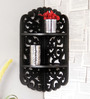 Frente Eclectic Wall Shelf in Black by Bohemiana