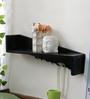 Patricio Contemporary Wall Shelf in Black by CasaCraft