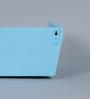 Patricio Contemporary Wall Shelf in Blue by CasaCraft