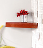 Sosimo Contemporary Wall Shelf in Brown by CasaCraft