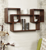 Alvar Contemporary Wall Shelves Set of 3 in Brown by CasaCraft