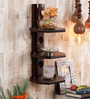 Allyce Contemporary Wall Shelf in Brown by CasaCraft