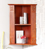 Kronos Contemporary Wall Shelf in Brown by CasaCraft