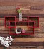 Hughes Contemporary Wall Shelf in Red by CasaCraft