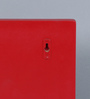 Home Sparkle Red Engineered Wood Wall Shelf with Key Hanger