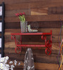 Tatam Monica Colonial Wall Shelf in Red by Amberville