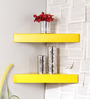 Humberto Contemporary Wall Shelves Set of 2 in Yellow by CasaCraft