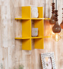 Aleta Contemporary Wall Shelf in Yellow by CasaCraft