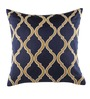 Home Stop Blue Velvet 16 x 16 Inch Fern Cushion Cover