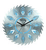 Home Blue Aluminium & MDF 40 x 40 Inch Wall Clock