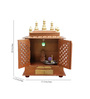 Homecrafts Gold MDF & Mango Wood Semi Large Home Temple with Door
