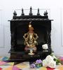 Homecrafts Walnut MDF & Mango Wood Large Home Temple