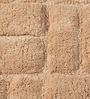 HomeFurry Beige Cotton 31 x 20 Inch Zigzag Door Mat