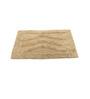Homefurry Beige Triple Wave 20 X 32 Inch Cotton Bath Mat