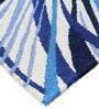 Homefurry Blue Wool 71 x 47 Inch Area Rug