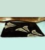HomeFurry Brown & Black Polyester 72 x 48 Inch Birdy Area Rug