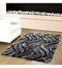 HomeFurry Grey And Blue Polyester 72 x 48 Inch Deadly Snake Area Rug