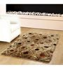 HomeFurry Brown Polyester 72 x 48 Inch Gol Moles Area Rug