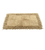 Homefurry Beige Checkster 20 X 32 Inch Cotton Bath Mat