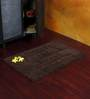 Homefurry Greyish Brown Glossy Bricks 20 X 32 Inch Cotton Bath Mat
