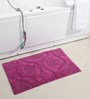 Homefurry Purples Cotton 20 X 32 Inch Bath Mat