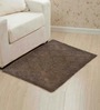 Homefurry Riggy Waffle Grayish Brown Cotton Bath Mat