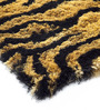 HomeFurry Yellow Polyester 72 x 48 Inch Tiger's Skin Area Rug