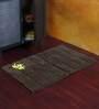 Homefurry Brown Cotton 20 X 30 Inch Bath Mat