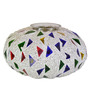 Homesake White Glass Mosaic Melon Large Votive