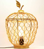 Homesake Gold Iron Apple Cage Table Lamp