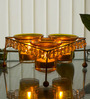 Homesake Yellow Iron Crystal Votive - Set of 3