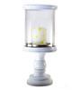 Homesake White Mango Wood Classic Hurricane Tea Light Holder