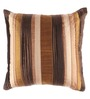HomeStop Brown Polyester 32 x 32 Inch Orford Stitch Technique Cushion Cover