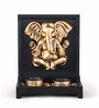 HomeTown Copper Polyresin Sanctum Ganesha Tea Light Holder - Set of 2